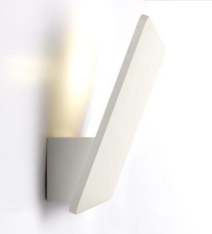 designerski kinkiet w nowoczesnym stylu, biały kwadrat