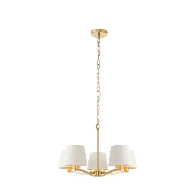 Oryginalny żyrandol Harvey - Endon Lighting - złoty, biały