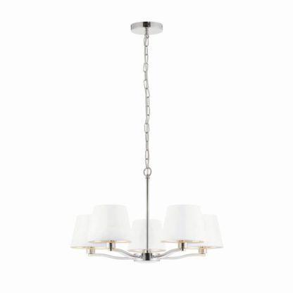 Oryginalny żyrandol Harvey - Endon Lighting - srebrny, biały