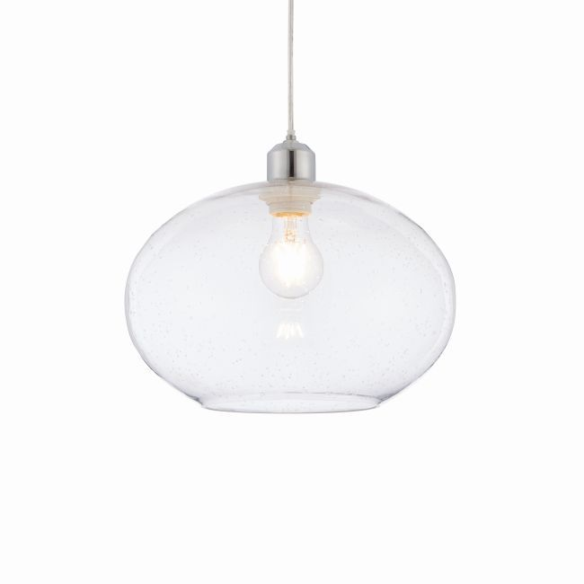 transparentna lampa wisząca, szklana