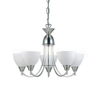 Pięcioramienny żyrandol Alton - Endon Lighting - biały, chrom