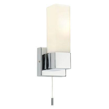 Pionowy kinkiet Square - Endon Lighting - chrom, szkło