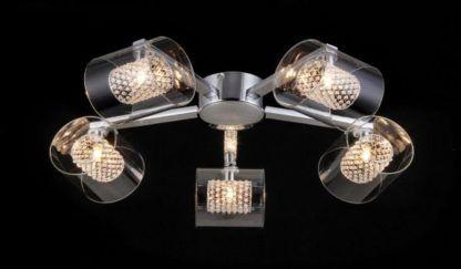 Lampa sufitowa Belinda - Maytoni - 5 żarówek - szkło, kryształki