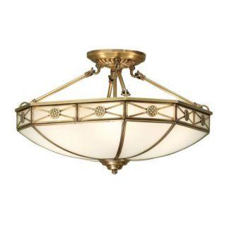 Lampa sufitowa Bannerman - Interiors - antyczny mosiądz