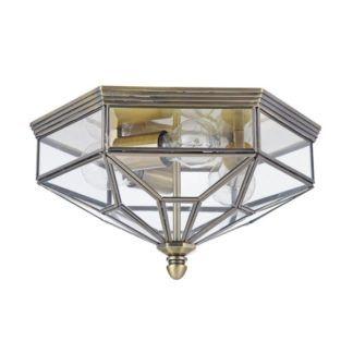 Plafon Zeil - Maytoni - szklany, brązowy