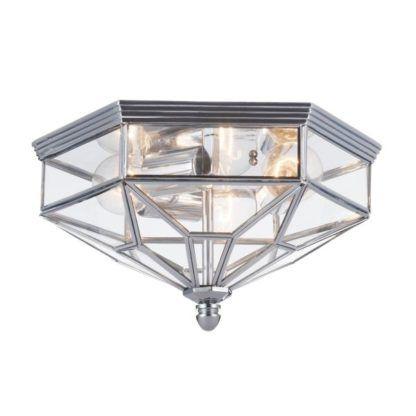 plafon szary srebrny szklany