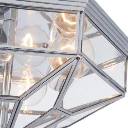 Plafon Zeil - Maytoni - szklany, srebrny