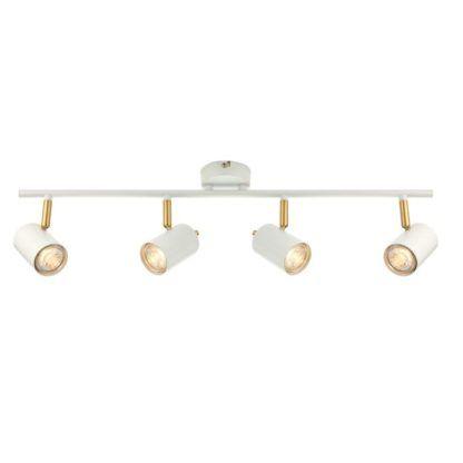 Podłużna lampa Gull - Endon Lighting - matowa biała, złota