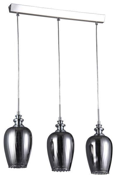 Podłużna lampa wisząca Blues - Maytoni - srebrna, szklana