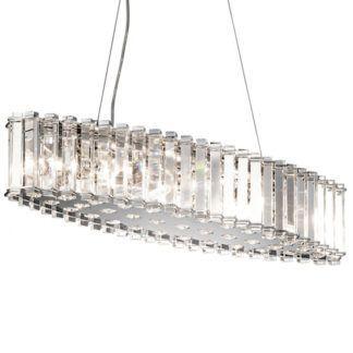 Podłużna lampa wisząca glamour - Crystal - kryształowa