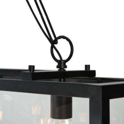 uchwyt lampy wiszącej szklanej prostokątnej