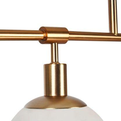 lampa wisząca długa z kloszami