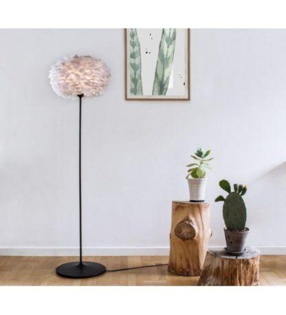 czarna minimalistyczna podstawa do lampy podłogowej Vita Copenhagen