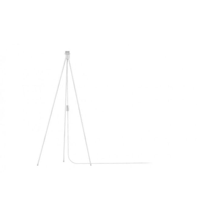nowoczesna podstawa trójnóg do lampy podłogowej w kolorze białym