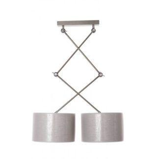 Podwójna lampa wisząca Emina - AV-Lighting - szara