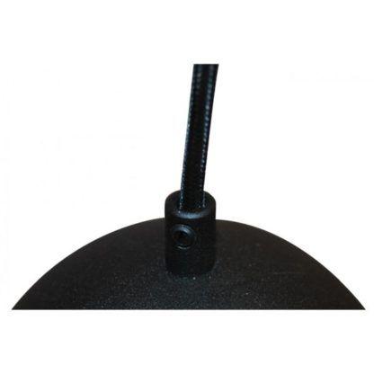 lampa wisząca czarna z brokatowym wykończeniem na dwie żarówki