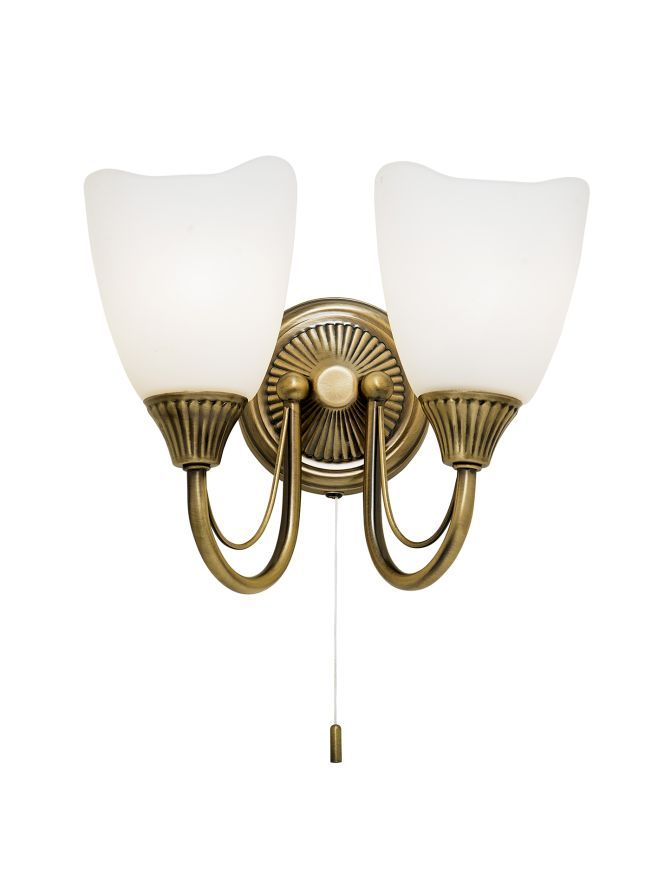 Podwójny kinkiet Haughton - Endon Lighting - brązowy