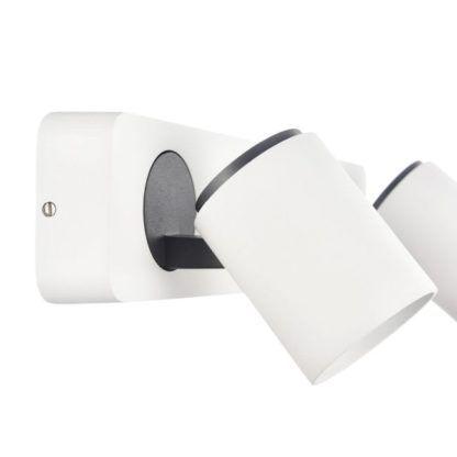 podwójny reflektor kinkiet ścienny biały
