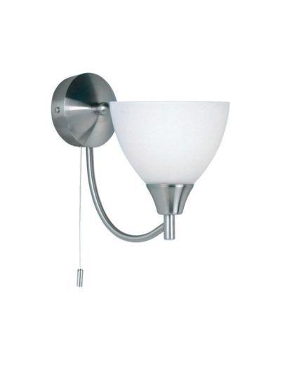 Pojedynczy kinkiet Alton - Endon Lighting - szklany, chrom