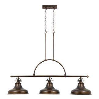 Potrójna lampa wisząca - Bistro - ciemna brązowa