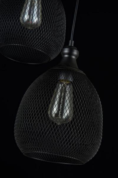 ciekawa lampa z cieniutkich drucików czarna