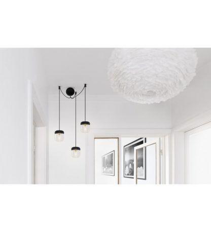 czarne zawieszenie na trzy lampy Vita Copenhagen
