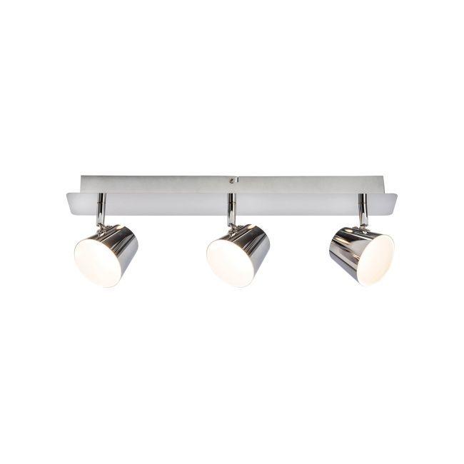 Potrójny reflektor Torsion - Endon Lighting - srebrny, metalowy