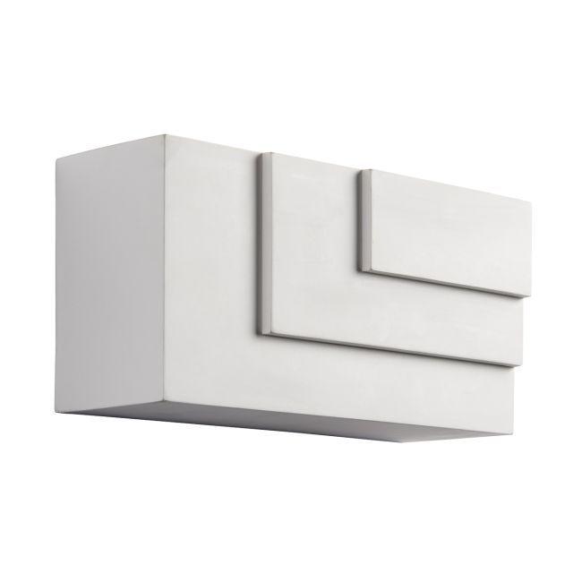 Prostokątny kinkiet Ripple - Endon Lighting - biały gips