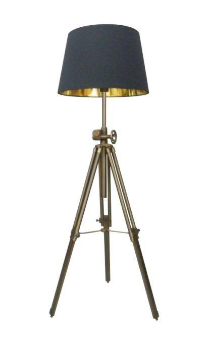 Lampa podłogowa - Seville - Zuma Line - metal - chrom, czarna