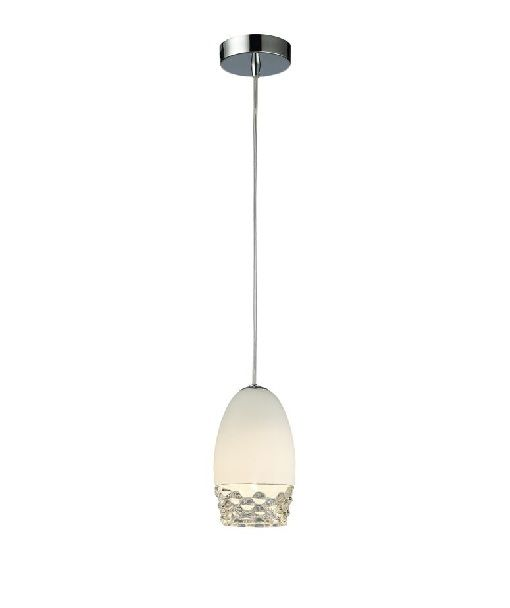 lampa wisząca ze szkła mlecznego i zwykłego, styl nowoczesny - aranżacja