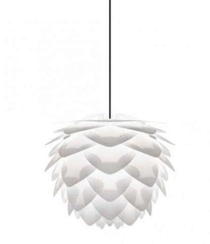 biała lampa wisząca z płatków - styl nowoczesny