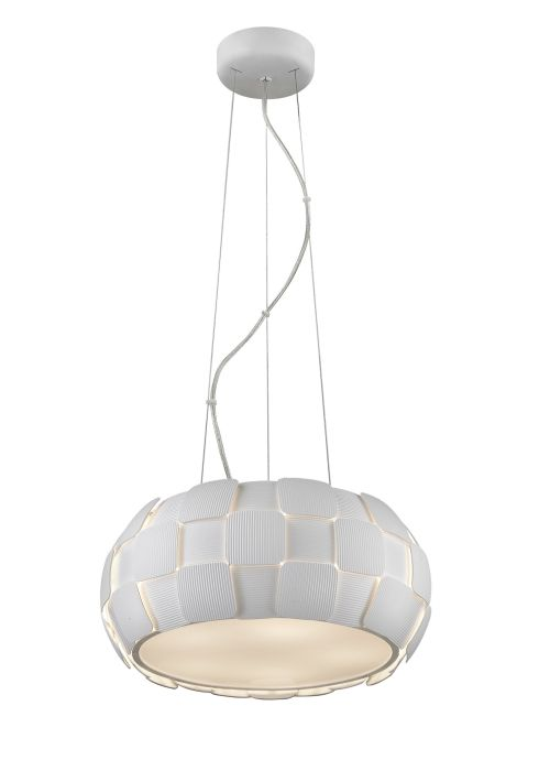Lampa wisząca - Sole M - Zuma Line - pcv, biała