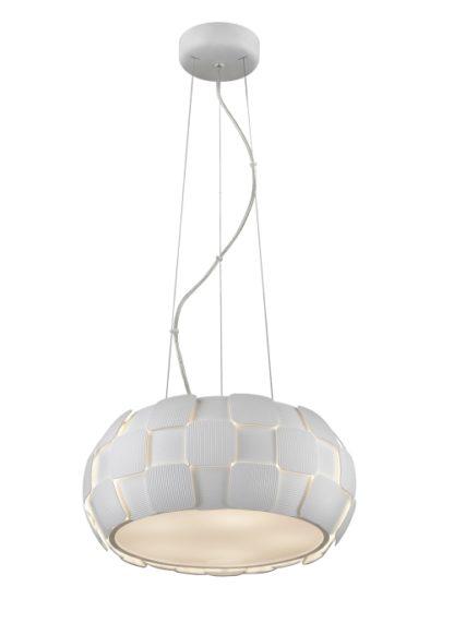Lampa wisząca - Sole - Zuma Line - pcv, biała