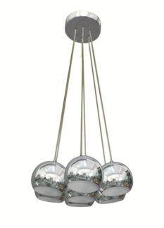 Lampa wisząca - Spheres - Zuma Line - metalowa, chrom