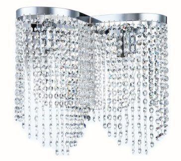 Srebrny kinkiet Tois - Maytoni - srebrny, kryształki