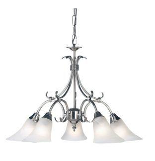 Srebrny żyrandol Hardwick - Endon Lighting - 5 żarówek