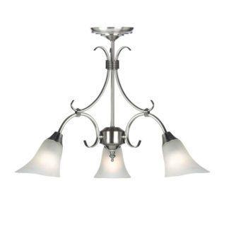 Srebrny żyrandol Hardwick - Endon Lighting - 3 żarówki