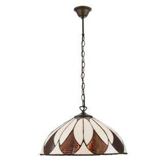 Szklana lampa wisząca Aragon - Interiors - witraż