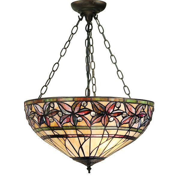odwrócona lampa wisząca na brązowych metalowych zwisach