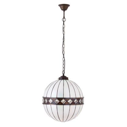 kulista lampa wisząca ze szkła mozaikowego