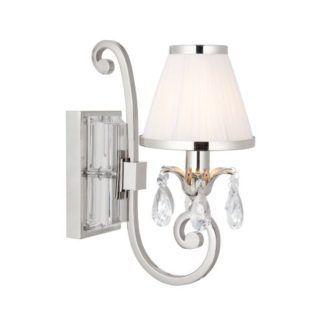 Stylowa lampa ścienna Oksana - Interiors - kryształy, srebrna