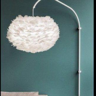 Lampa ścienna na ramieniu Willow - pojedyncze ramie - biała, stalowa