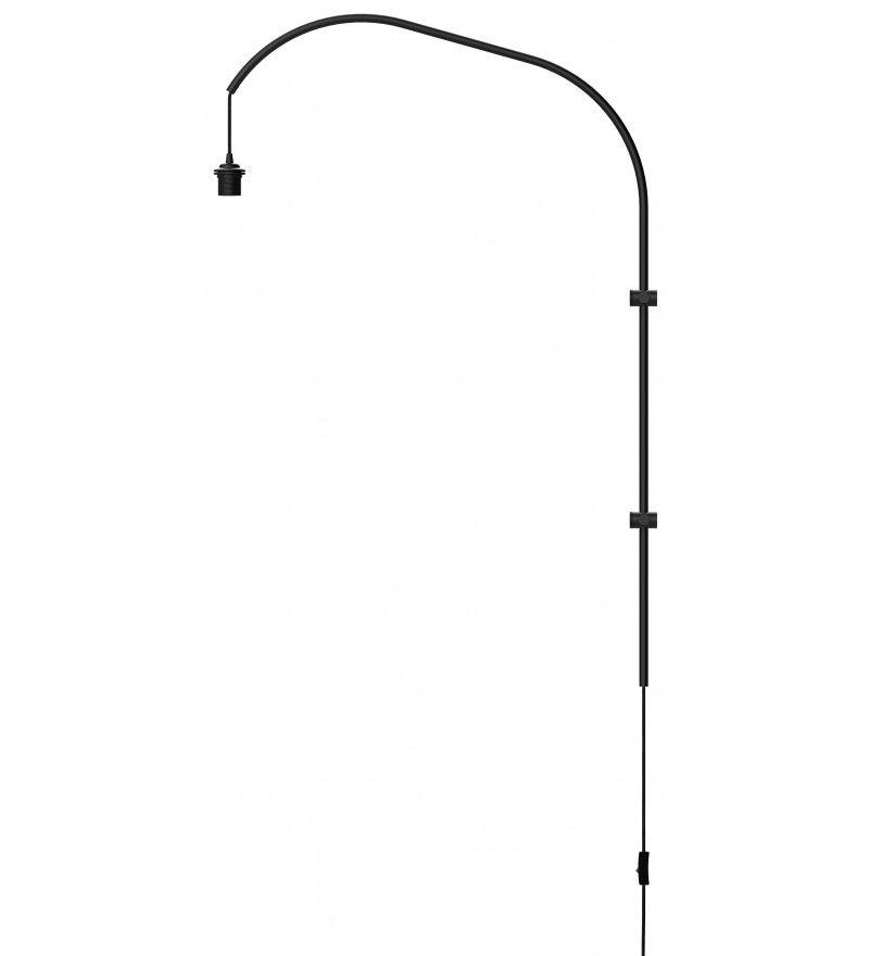 lampa z kloszem w szarym ombre, styl nowoczesny