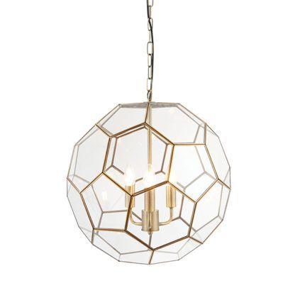 Stylowa lampa wisząca Miele - Endon Lighting - 3 żarówki - szklana