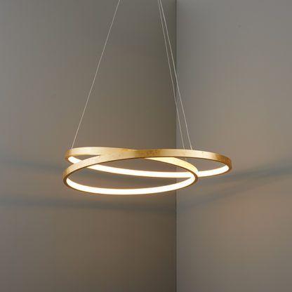Stylowa lampa wisząca Scribble LED - Endon Lighting - złota