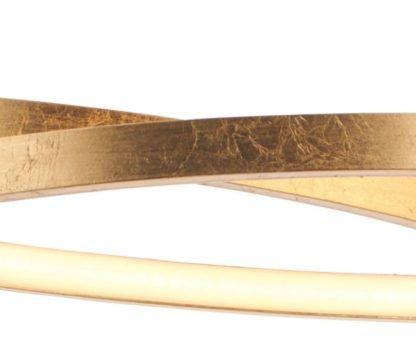 złota lampa wisząca w nowoczesnym stylu