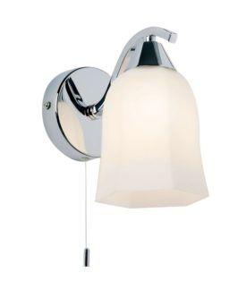 Stylowy kinkiet Alonso - Endon Lighting - srebrny, szklany