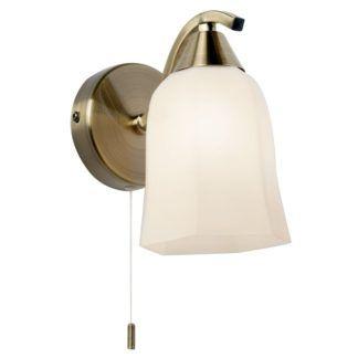 Stylowy kinkiet Alonso - Endon Lighting - złoty, szklany