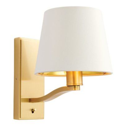Stylowy kinkiet Harvey - Endon Lighting - złoty, biały