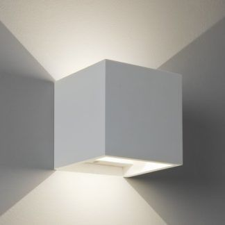 Stylowy kinkiet Pienza LED - Astro Lighting - biały, gips